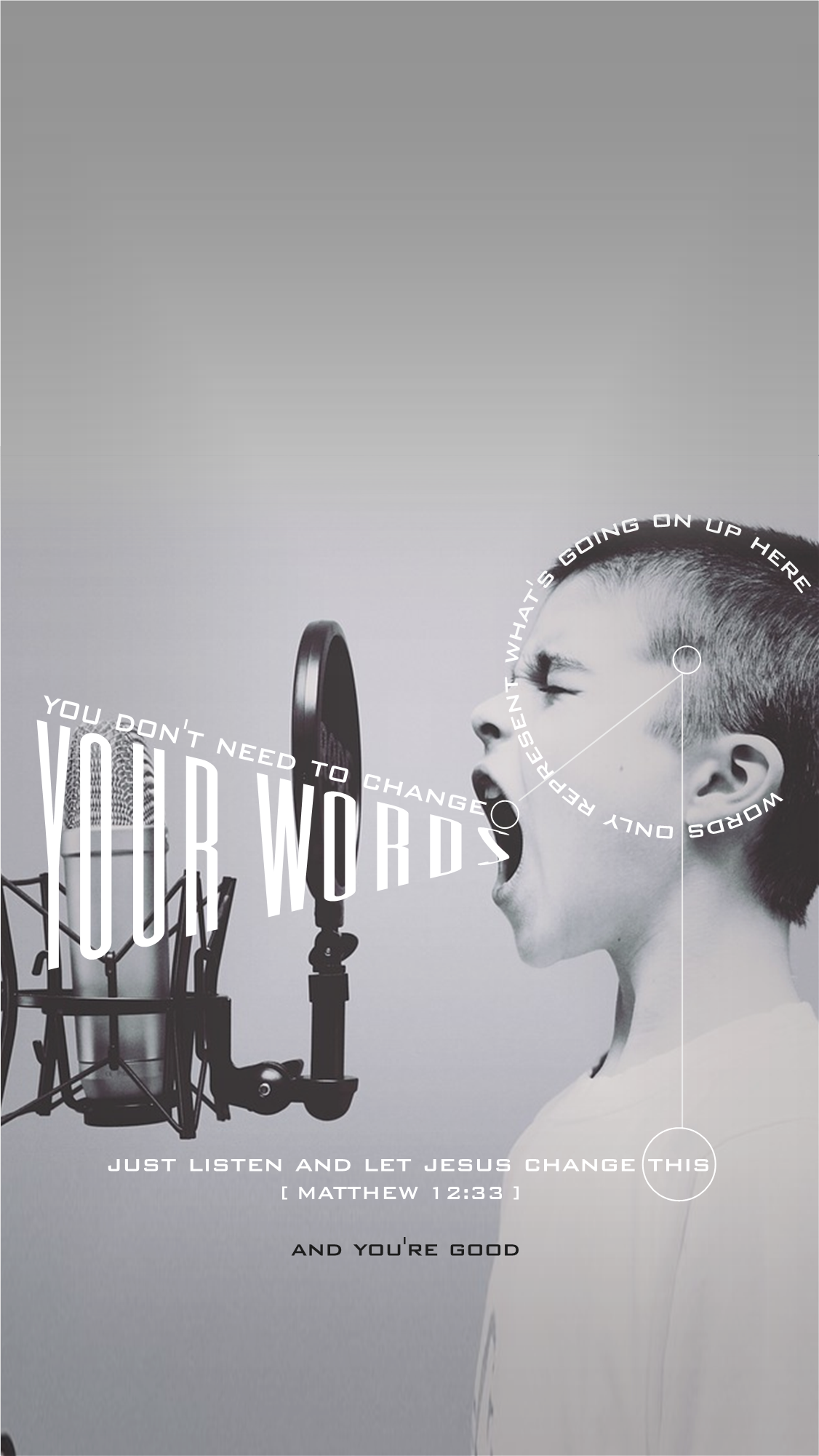 Dont Change Your Words Wallpaper