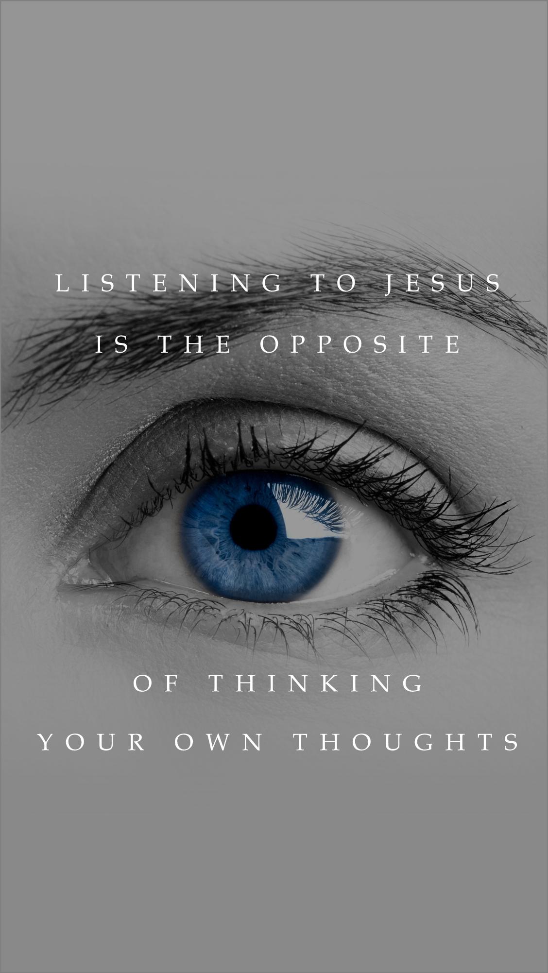 Listening Is The Opposite Wallpaper