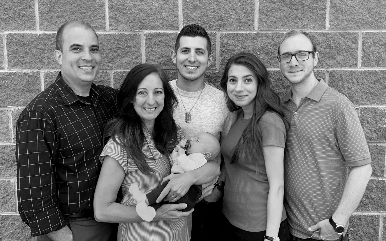 2019 Family Picture Grayscale